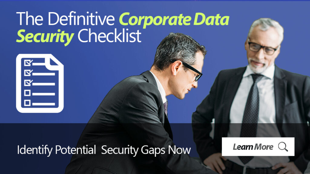 Corporate Data Security Checklist
